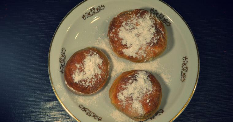 Pieczone pączki z waniliowym mascarpone