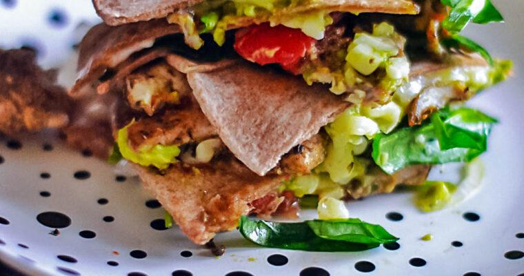 Zapiekana tortilla pełnoziarnista