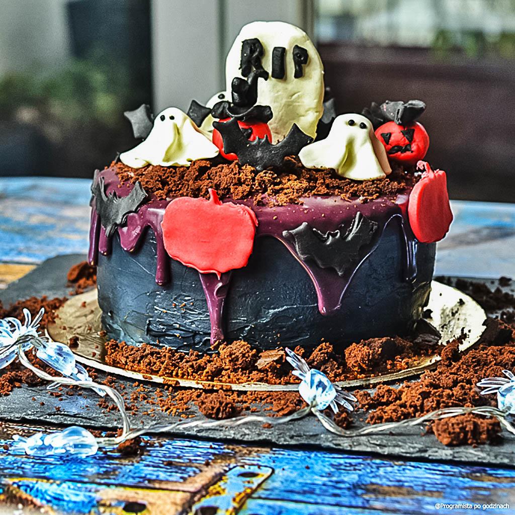 Jesienny Tort Halloweenowy