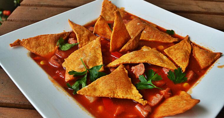 Zupa Meksykańska z domowymi nachosami