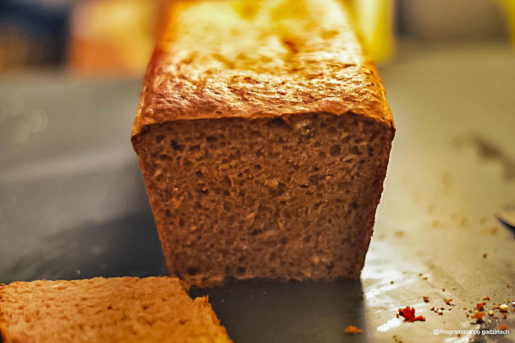 Chlebek pszenno-żytni pełnioziarnisty bez wyrabiania
