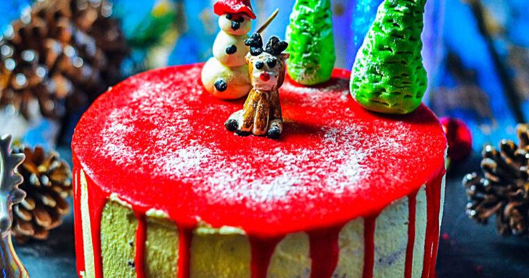 Tort orzechowo-czekoladowy z musem malinowym