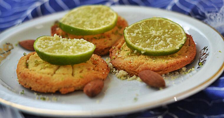 Limonkowe ciasteczka migdałowe