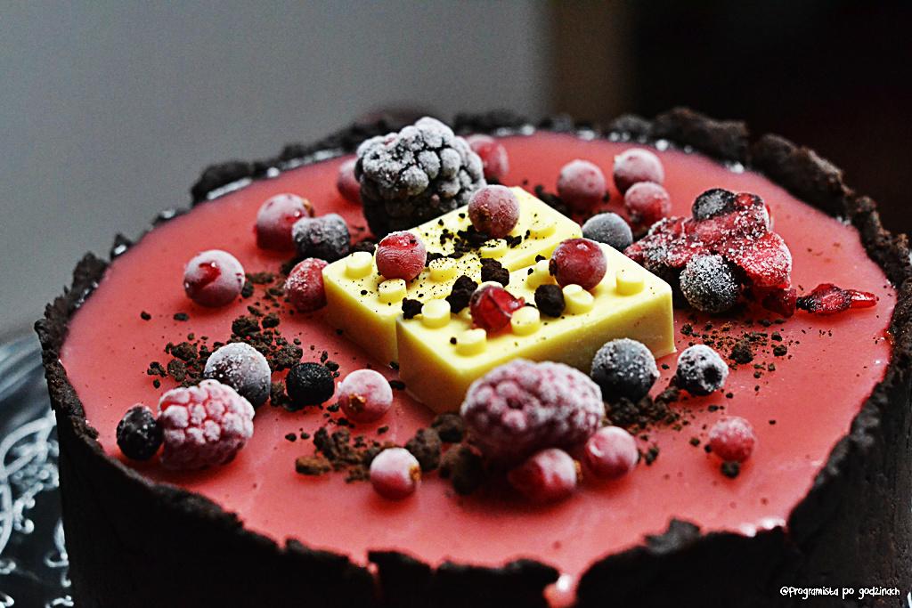 Duet sernikowo-czekoladowy z błyszczącą polewą
