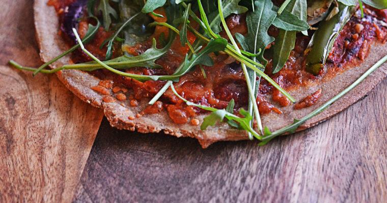 Pizza na żytnim spodzie