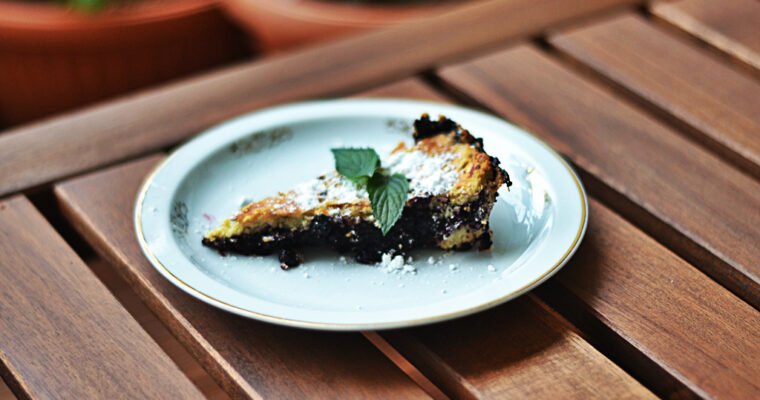 Blueberry crispy pie