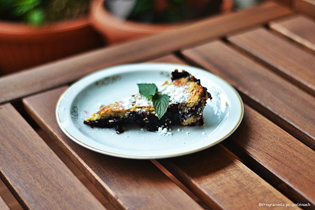 Blueberry crispy pie